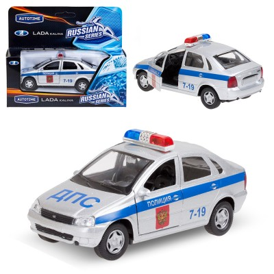 Машина металлическая ЛАДА Калина полиция 1:34