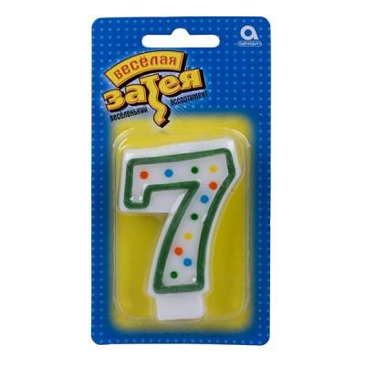 Свеча-цифра 7