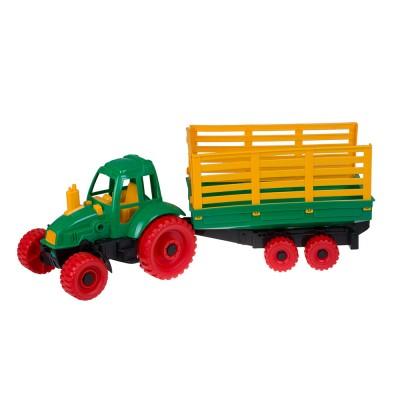 Трактор с прицепом 17х17х55 см