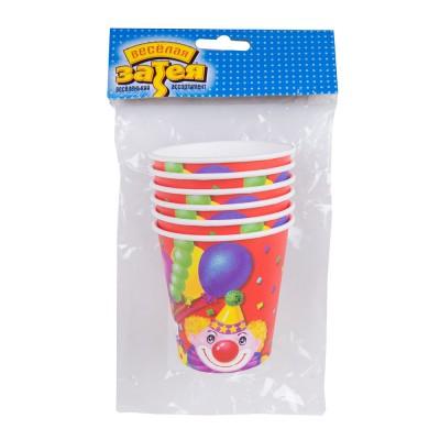 Набор стаканов Клоун с шарами 6 шт 190 мл