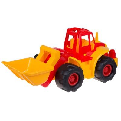 Трактор Богатырь с грейдером 66х33х60 см