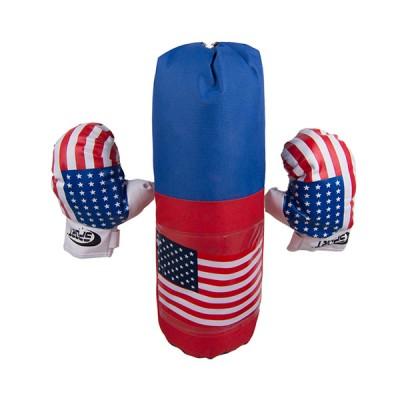 Боксерская  груша с перчатками  США 45х15 см