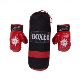 Боксерский мешок с перчатками BOXER 40х20х20 см