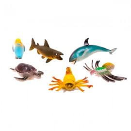 Набор морских животных 6 шт 40х25 см
