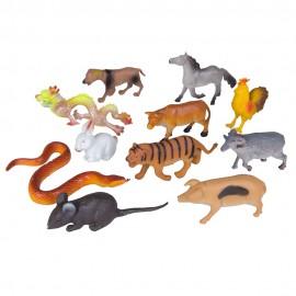 Набор животных-знаков Зодиака 12 шт