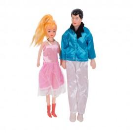 Набор кукол Семья 4 шт 28 см