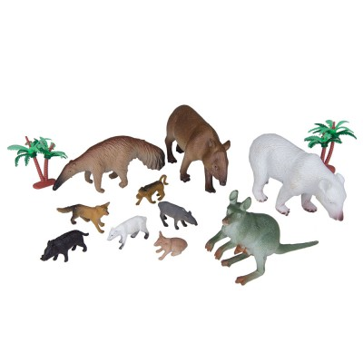 Набор Дикие животные 10 шт 6х11х3 см