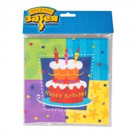 Салфетка Торт Birthday 33 см