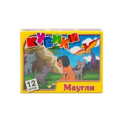 Кубики Маугли 12 шт