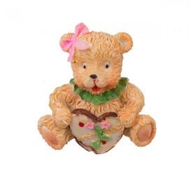Магнит Медвежонок с сердечком 5х5 см