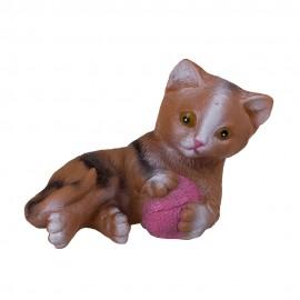 Кошка-пищалка с нитками 13х19 см