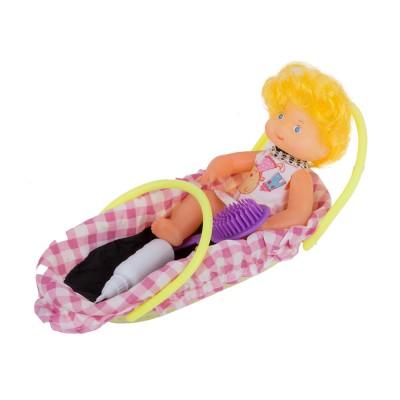 Кукла в корзине с набором