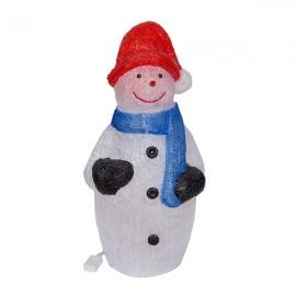 Новогоднее украшение Снеговик с гирляндой 80 см