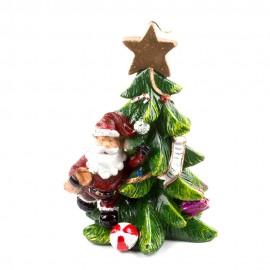 Свеча Дед Мороз с ёлкой