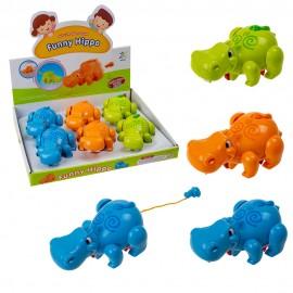 Заводная игрушка для купания Бегемот