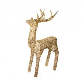Новогоднее украшение  Олень золотой 120 см