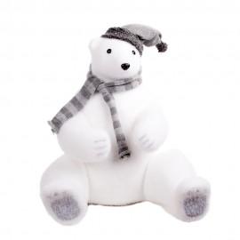 Новогоднее украшение Медведь с шарфом и шапкой 48 см