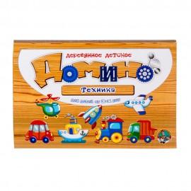 Деревянное детское домино. Техника 25х16см