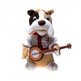 Мягкая музыкальная игрушка Пёс с банджо, 27см