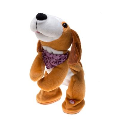 Мягкая музыкальная игрушка Танцующая собачка, русская озвучка, 30см