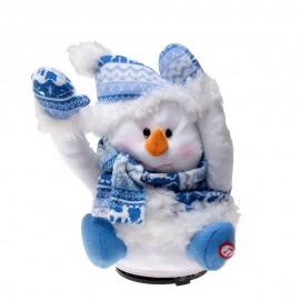 Мягкая музыкальная игрушка Снеговик, 20см