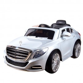 Машина радиоуправляемая для катания детей 60х120х60 см Белая