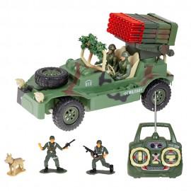 Машина на радиоуправлении военная с солдатами