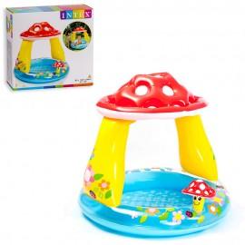 """Детский бассейн """"Грибок с навесом """"  102х89 см"""
