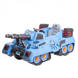Танк для катания с дистанционным управлением синий 125х75х55 см