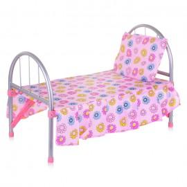 Кроватка для кукол металлическая 32х46х27 см