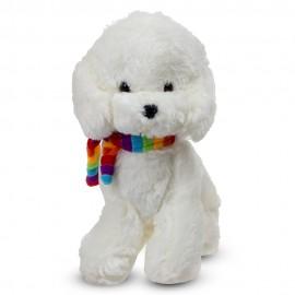 Собачка Пудель с шарфом 32 см