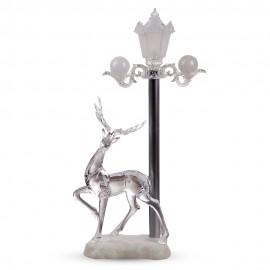 Новогоднее украшение Фонарь с оленем 59х20 см (свет)