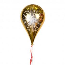 Новогоднее украшение Шар в форме Капли  Фейерверк золото  33 см