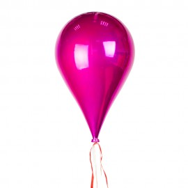 Новогоднее украшение Шар в форме розовой Капли 33 см