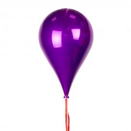 Новогоднее украшение Шар в форме  Капли  пурпурного цвета 33 см