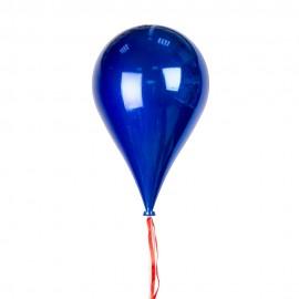 Новогоднее украшение Шар в форме синей Капли 33 см