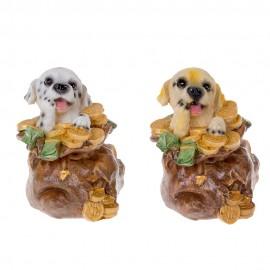 Статуэтка Собачка в мешочке денег 11,5 см