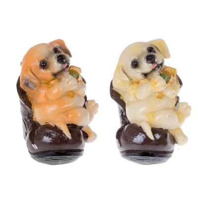 Статуэтка Собачка в денежном ботинке 12 см (