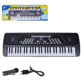Детский синтезатор 54 клавиши с микрофоном