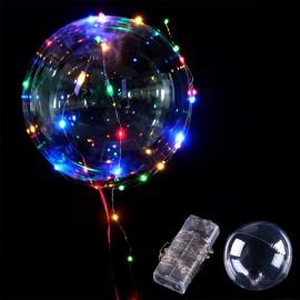 Воздушный шар со светящейся ленточкой, хвостом 20 см  26-30 ламп