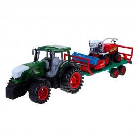 Трактор инерционный с комбайном