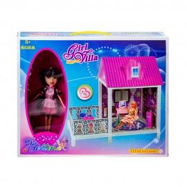 Дом для кукол (кукла+мебель) 65,5х41х63,5 см