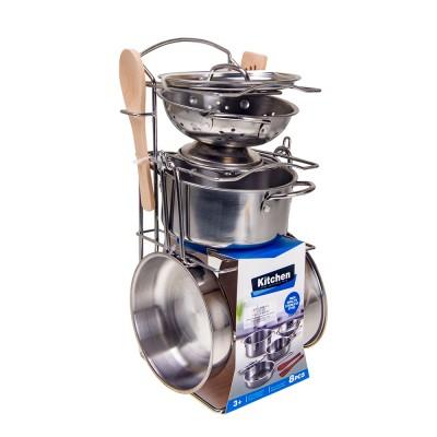 Набор металлической посуды 8 предметов