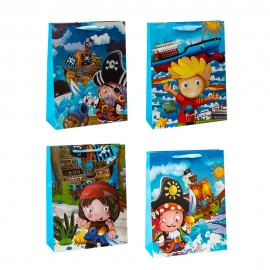 Пакет подарочный Пираты 26х32х10 см