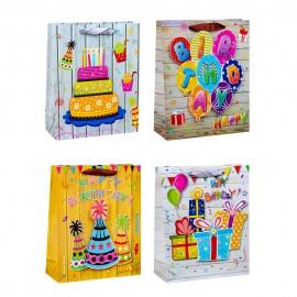 Пакет подарочный День рождения 31х40х12 см