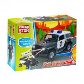 Игрушка конструктор Машина Полиция 45 деталей (свет,звук)