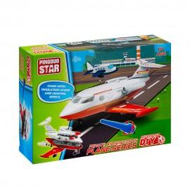 Игрушка конструктор Самолет 39 деталей (свет,звук)