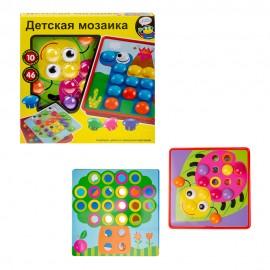 Игра-мозайка Пуговицы  46 пуговок, 10 картинок-шаблонов