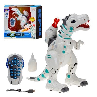 Динозавр на инфракрасном управлении (свет,звук, огнедышащий) 40,3х20х35 см