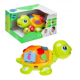 Развивающая игрушка Набор черепашек 2 шт (свет,звук)